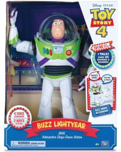 TOY STORY 4 BUZZ LIGHTYEAR with Interactive Drop-Down Action