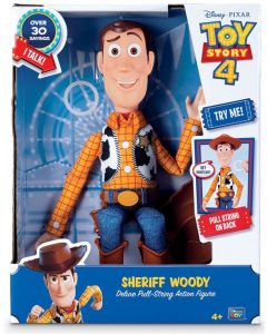 TOY STORY 4 SHERIFF WOODY Deluxe Pull-String Action Figure