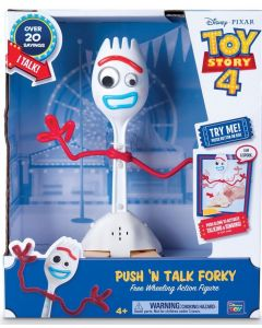 TOY STORY 4 DELUXE PUSH 'N TALK FORKY Free Wheeling Action Figure