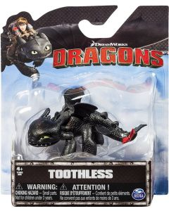 DREAMWORKS DRAGONS TOOTHLESS (CROUCHING) MINI DRAGON