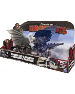 DREAMWORKS DRAGONS TOOTHLESS & HICCUP VS ARMORED DRAGON 3-PACK