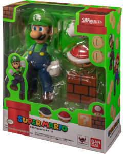 SUPER MARIO S.H.FIGUARTS LUIGI ACTION FIGURE