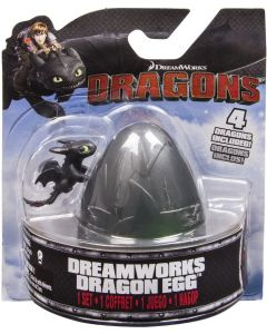 DREAMWORKS DRAGONS DRAGON EGG BLACK