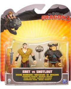 HOW TO TRAIN YOUR DRAGON 2 ERET & SNOTLOUT VIKING WARRIORS 2-PACK