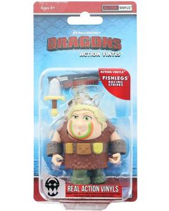 "HTTYD HUMANS W2 ACTION VINYLS 3"" FISHLEGS (RACING STRIPES)"