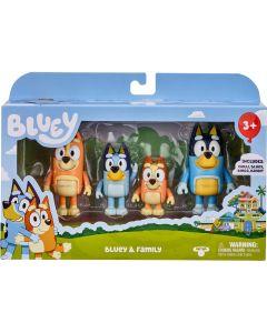 BLUEY & FAMILY 4 PACK FIGURINE SET