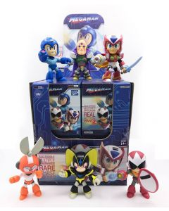 MEGAMAN WAVE 1 ACTION VINYLS PDQ CASE