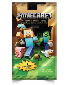 MINECRAFT TRADING CARDS COLLECTIBLE STICKER PACK