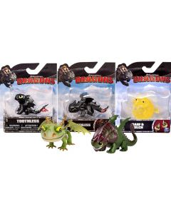 Dreamworks Dragons Mini Dragon Figures Set