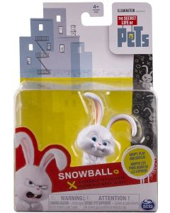 SECRET LIFE OF PETS POSEABLE PET FIGURE SNOWBALL