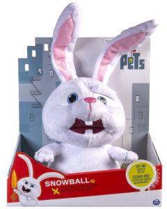 "SECRET LIFE OF PETS TALKING 12"" PLUSH BUDDY SNOWBALL"