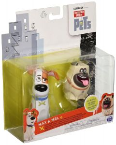 SECRET LIFE OF PETS VINYL PET FIGURES 2-PACK MAX & MEL