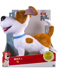 "SECRET LIFE OF PETS TALKING 12"" PLUSH BUDDY MAX"