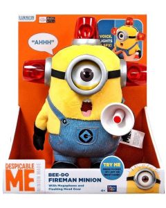 DESPICABLE ME BEE-DOO FIREMAN MINION TALKING PLUSH