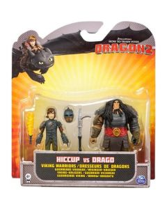HOW TO TRAIN YOUR DRAGON 2 HICCUP VS DRAGO VIKING WARRIORS 2-PACK