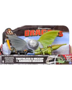 DREAMWORKS DRAGONS TOOTHLESS & HICCUP VS ARMORED DRAGON 3-PACK (2014)