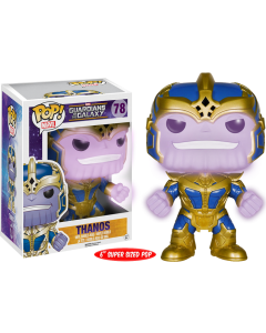 "FUNKO POP! MARVEL: GUARDIANS OF THE GALAXY VINYL BOBBLE-HEAD FIGURES (Wave 2) - Thanos GLOW 6"" Supersized"