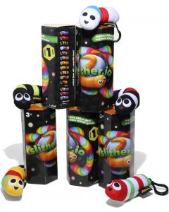 SLITHER.IO S1 BLIND BOX PLUSH W/ CLIP (SET OF 5)