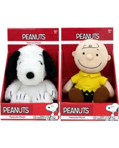 "PEANUTS SNOOPY & CHARLIE BROWN PLUSH 10"" SET"