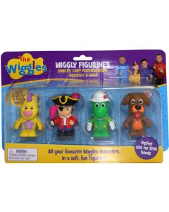 THE WIGGLES WIGGLY FIGURINES 4 PACK (Shirley, Capt Feathersword, Dorothy & Wags)
